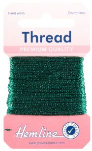H1002\19 Glitter Thread: 10m - Bottle Green